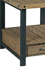 Hammary Workbench Rustic-Industrial 2 Drawer Sofa Table