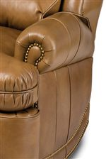 Plush Rolled Arm with Nailhead Trim