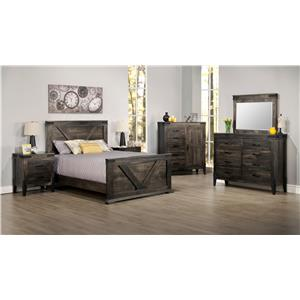 Superb Handstone Chattanooga Queen Bedroom Group