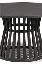 Pedestal Dining Table Base with Open Slats