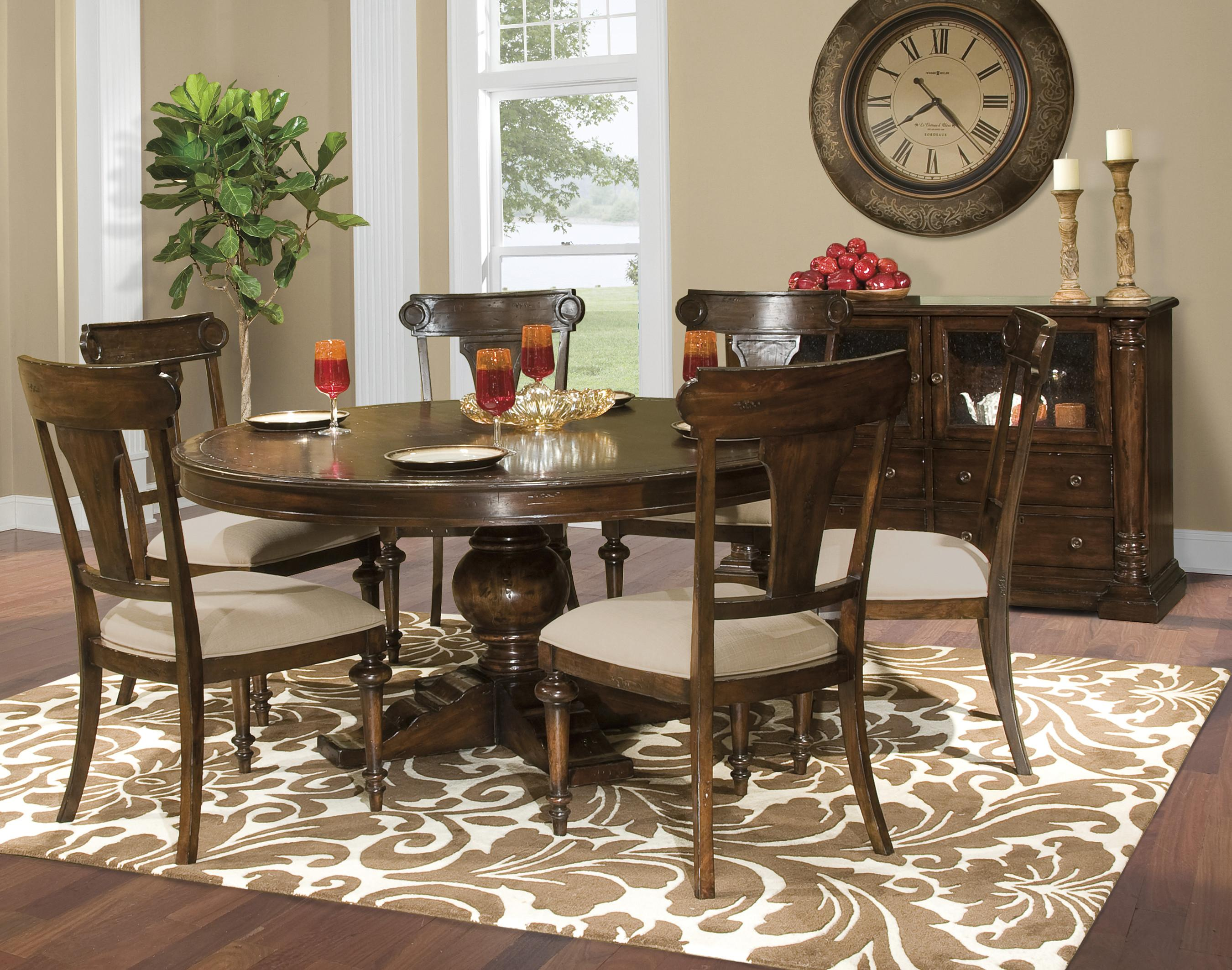 Hekman Charleston Place Table And Side Chair Set | Stuckey Furniture |  Dining 7 (or More) Piece Set