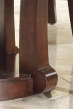 Modern Scroll Detail At Table Base