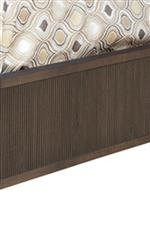 Bed's Footboard and Rails, as well as Mirror's Frame, Features Reeded Design