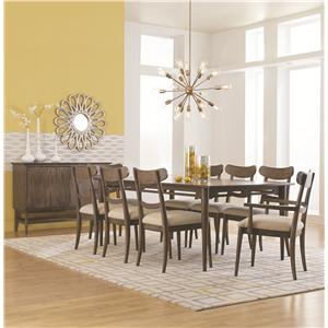 HGTV Home Furniture Collection City Center Formal Dining Room Group