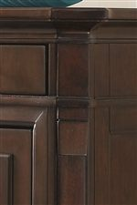 Canted Pilasters Blend with Bowed Case Fronts and Fully Finished Sides Creating Clean Lines with Elegant Silhouettes