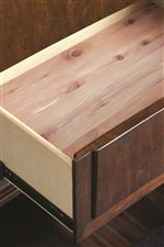 Cedar-Lined Bottom Drawers Add Luxurious Sophistication to Clothes and Blanket Storage