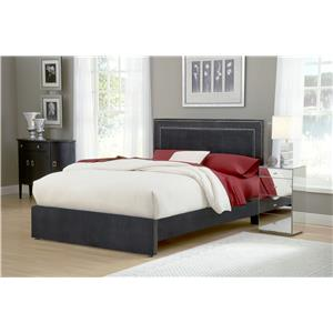 Hillsdale Amber Pewter King Upholstered Bed Set with Rails
