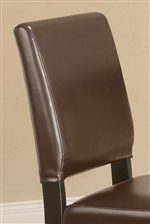 Faux Leather Upholstered Seat Backs