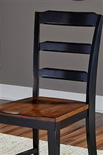 Ladder Back and Contour Seat