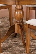 Round Table Features Beautiful Turned Pedestal Base