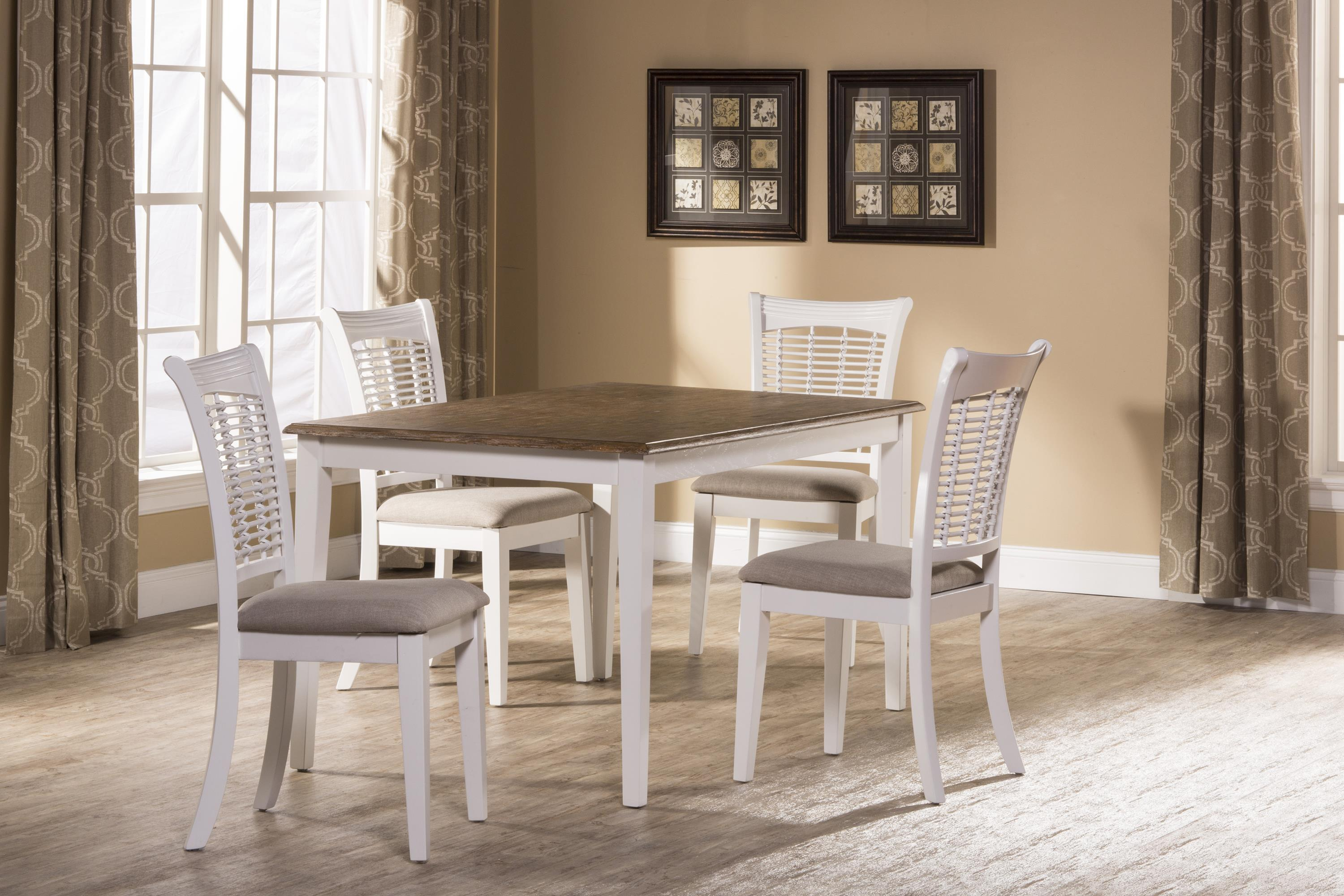 hillsdale bayberry white five piece rectangle dining set wayside