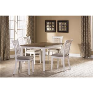Morris Home Furnishings Bayberry White White Five Piece Dining Set