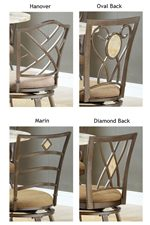 Creative Chair and Stool Back Designs Allow Mixing and Matching to Personalize Your Dining Set