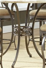 Sleek Pedestal Style Table Bases with Curvaceous Silhouettes