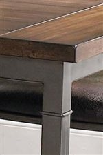 A Two Tone Wood & Metal Finish Adds a Modern Touch
