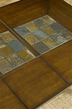 Ornamental Table Top Slate Inlay