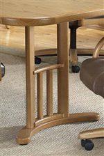 Spacious Pedestal Style Table Base