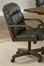 Leather Caster Dining Chair