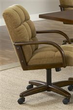 Fabric Caster Dining Chair