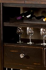 Open Wine Rack, Open Shelf, Drawer