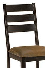 Ladder Back Chairs and Stools with Upholstered Seats