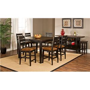 Hillsdale Killarney 7 Piece Counter Height Table & Stool Set