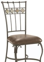 Tile Top Side Chair with Faux Leather Seat