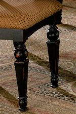 Tapered Legs with Elegant Turned Details