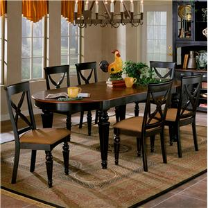 Morris Home Furnishings Northern Heights Seven Piece Dining Set