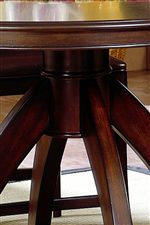 Pedestal Leg Formation Gives Table Strength and Leg Room