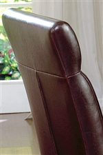 Upholstered Chair Backs Create Comfortable Sitting Arrangements