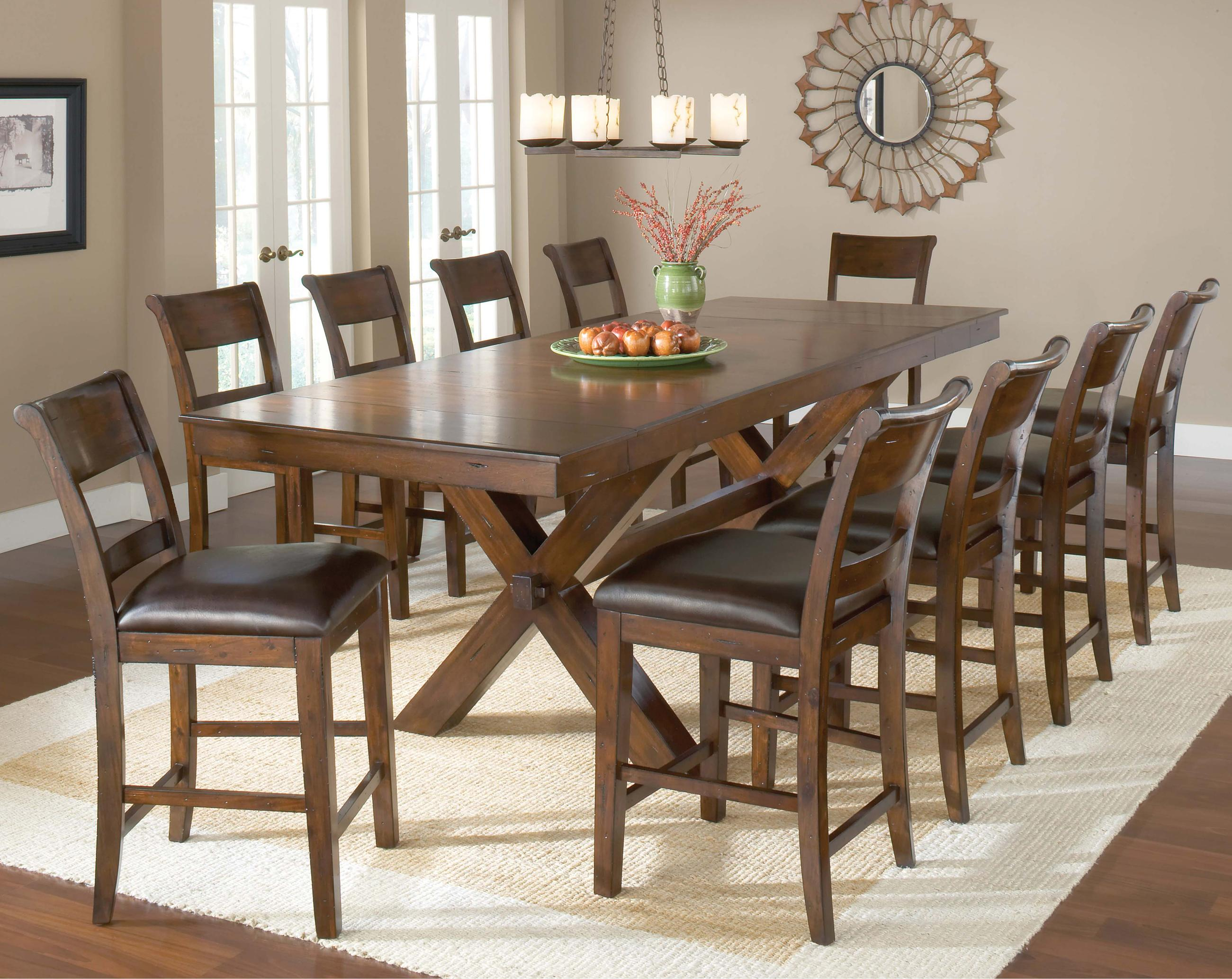 Hillsdale Park Avenue Counter Height Trestle Table | Boulevard Home  Furnishings | Pub Tables
