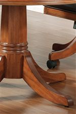 Table Has an Elegant Pedestal
