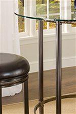 Glass Table Top and Metal Base