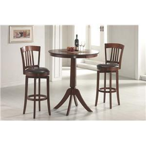 Morris Home Furnishings Plainview Corsica Swivel Barstool with Round Seat