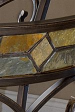 Stained Glass Style Slate Accents add Rustic Color