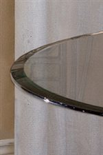 Beveled Table Edge Gives Class to Glass