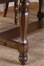 Turned Table Leg and Trestle