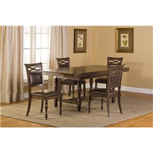 Morris Home Furnishings Seaton Springs Trestle Table with Curved Corners