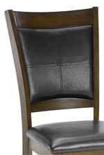 Black Vinyl Upholstered Chairs