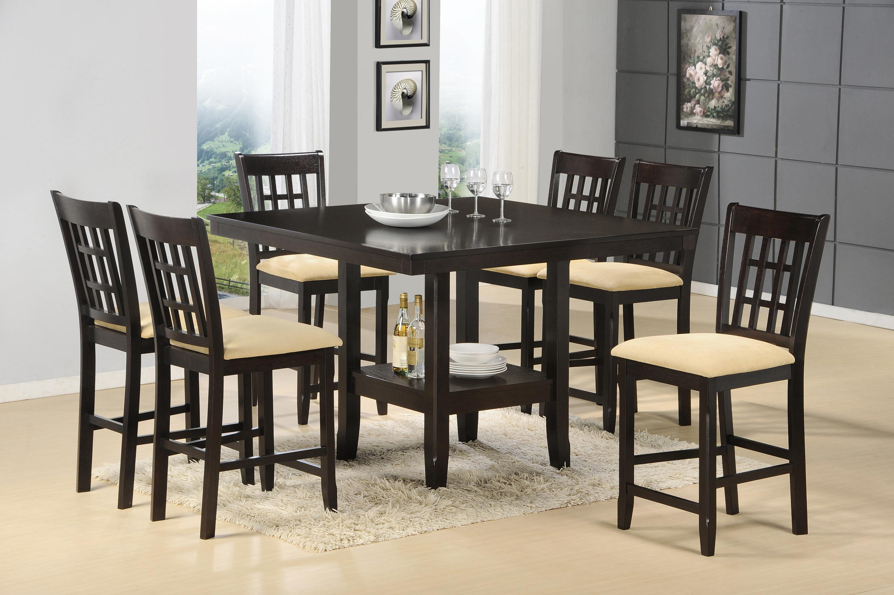 Hillsdale Tabacon Counter Height Gathering Table With Wine Rack   Wayside  Furniture   Pub Table
