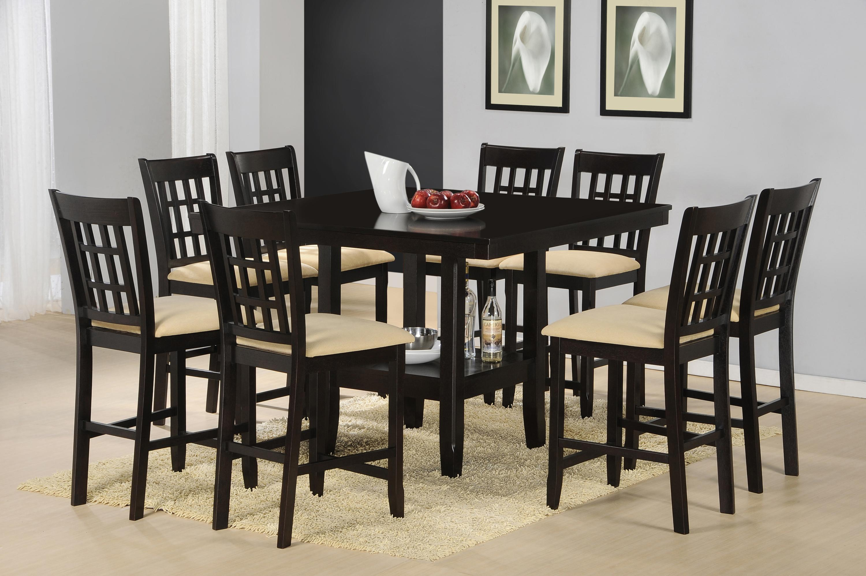 Tabacon 9 Piece Counter Height Gathering Table W/ Wine Rack Dining Set |  Rotmans | Pub Table And Stool Set Worcester, Boston, MA, Providence, RI, ...