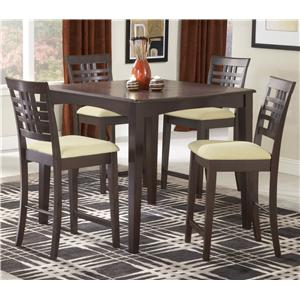 Hillsdale Tiburon Five Piece Counter Height Dining Set