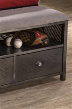 Footboard Storage Bench Provides Extra Storage Space and A Seating Accent