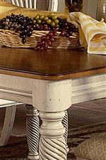 Two-Tone Cottage Table Edges Spare no Detail