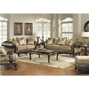 Hm Richards Vanity Traditional Tufted Chenille Chaise With