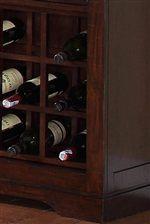 Criss-Cross Wood Wine Rack