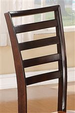 Ladder-Backed Chairs in a Dark Brown Finish