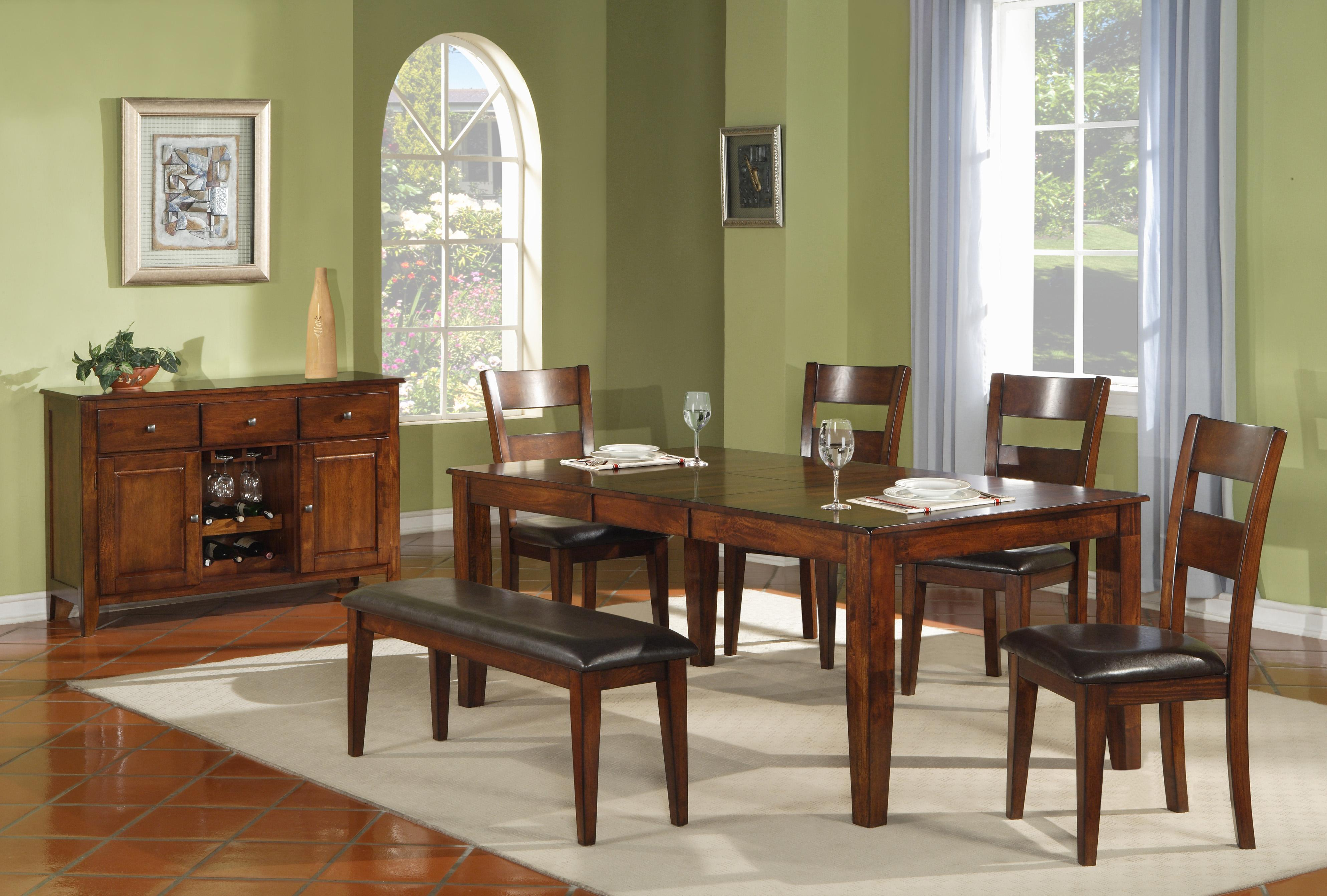 Ellis Modern Solid Mango Wood Dining Table Walker s Furniture