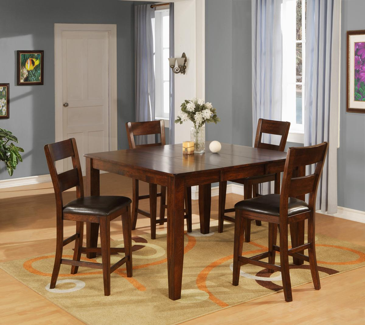 Ellis Table + 4 Chairs + Bench | Walker\'s Furniture | Table & Chair ...
